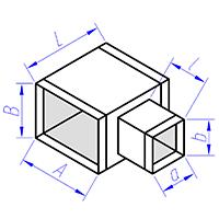 тройник прямоугольного сечения