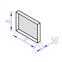 заглушка прямоугольного сечения