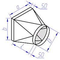 переход круглого сечения на прямоугольное